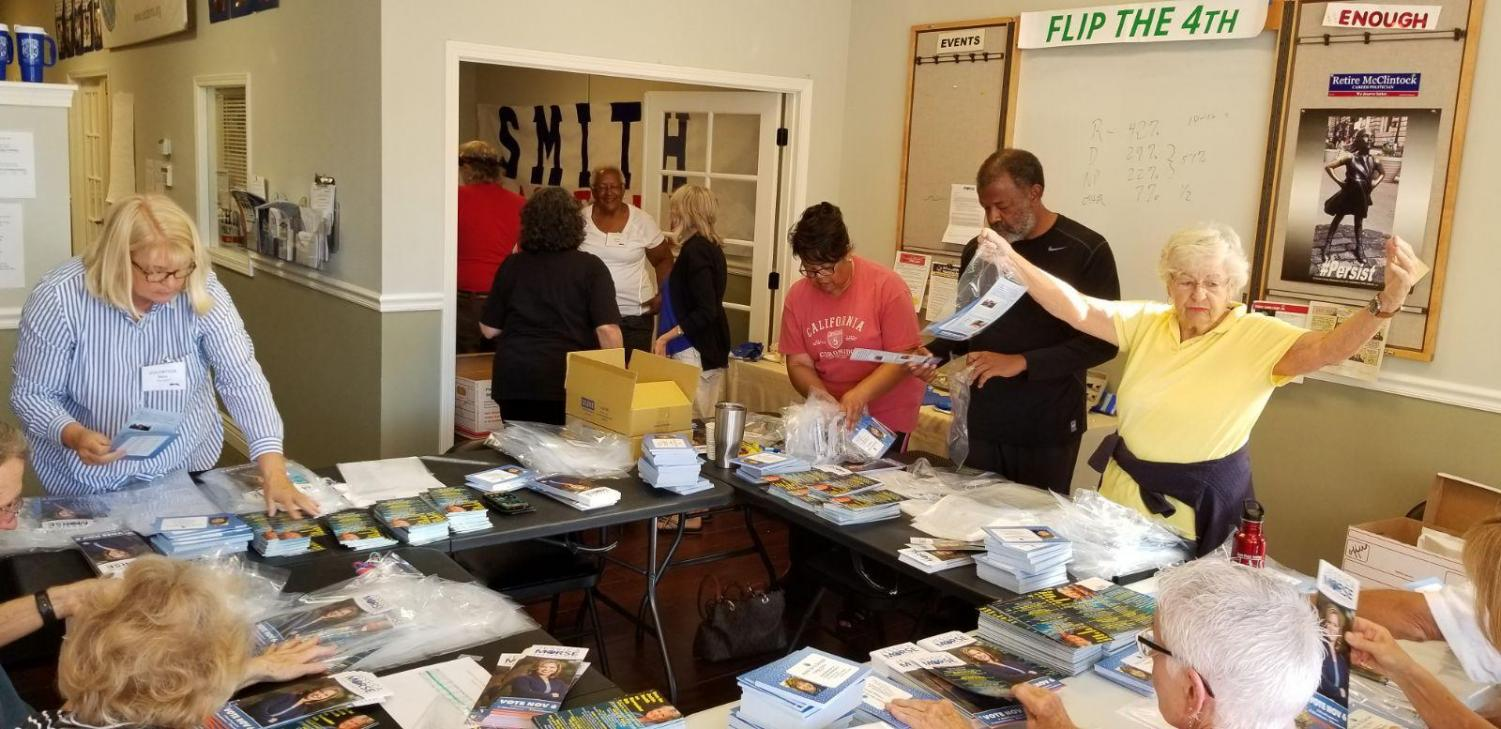 Volunteers at EDC Headquarters on Tuesday, Sept. 25 taking action!