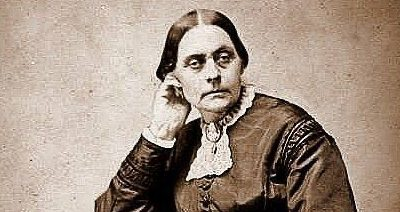 """Susan B. Anthony has just been found guilty of """"illegally"""" voting"""